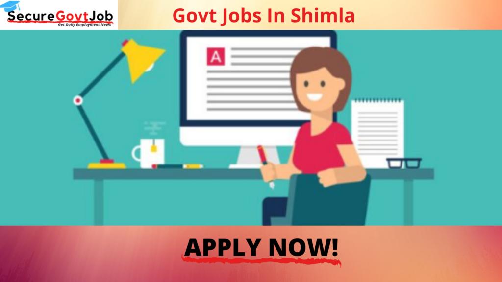 Govt Jobs in Shimla